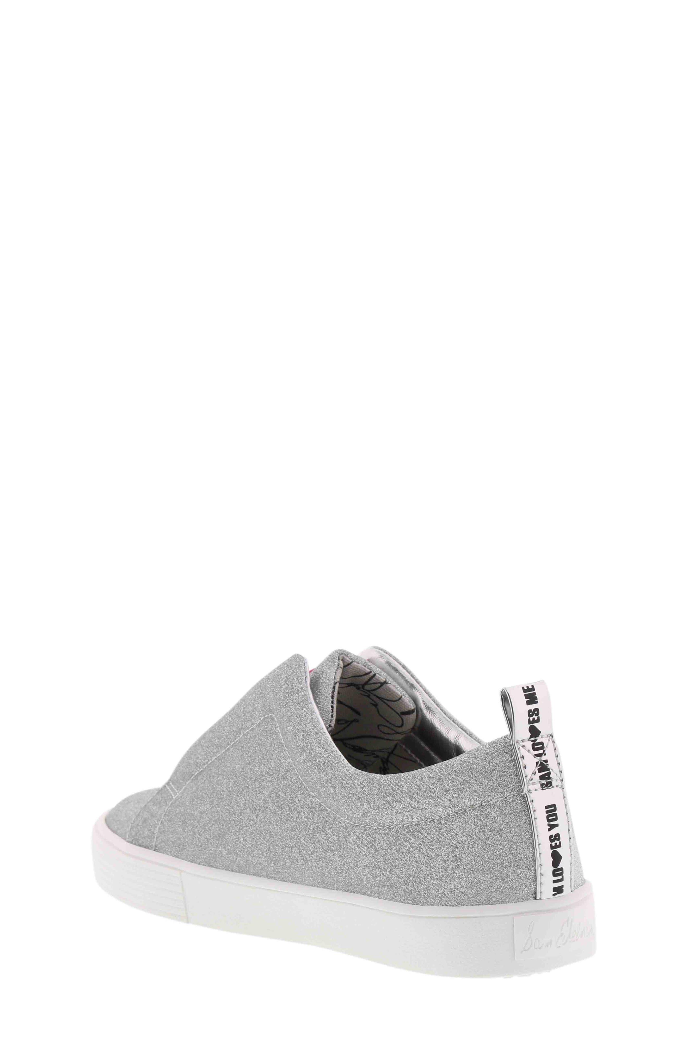 Bella Emma Slip-On Sneaker,                             Alternate thumbnail 2, color,                             Silver Glitter