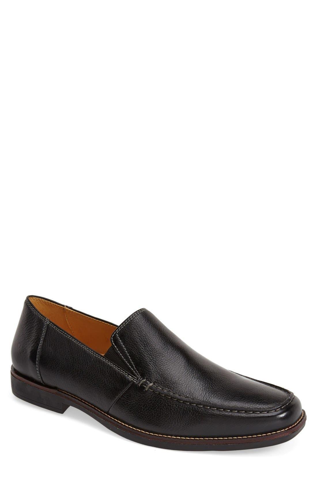 'Easy' Leather Venetian Loafer,                             Main thumbnail 1, color,                             Black