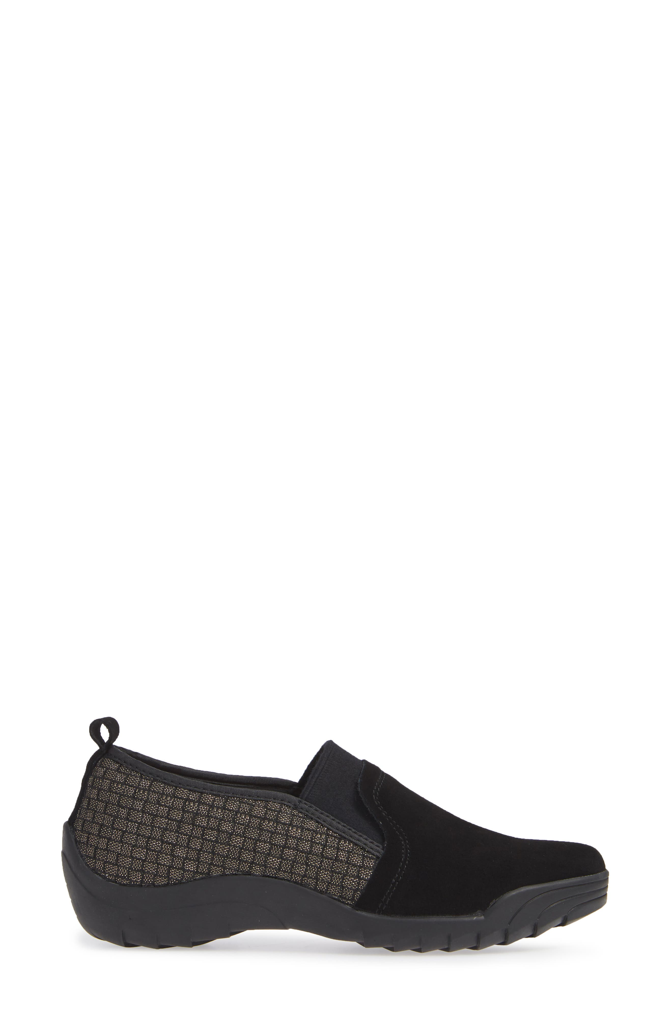 Swift Slip-On Sneaker,                             Alternate thumbnail 5, color,                             Gold Black Shimmer Leather