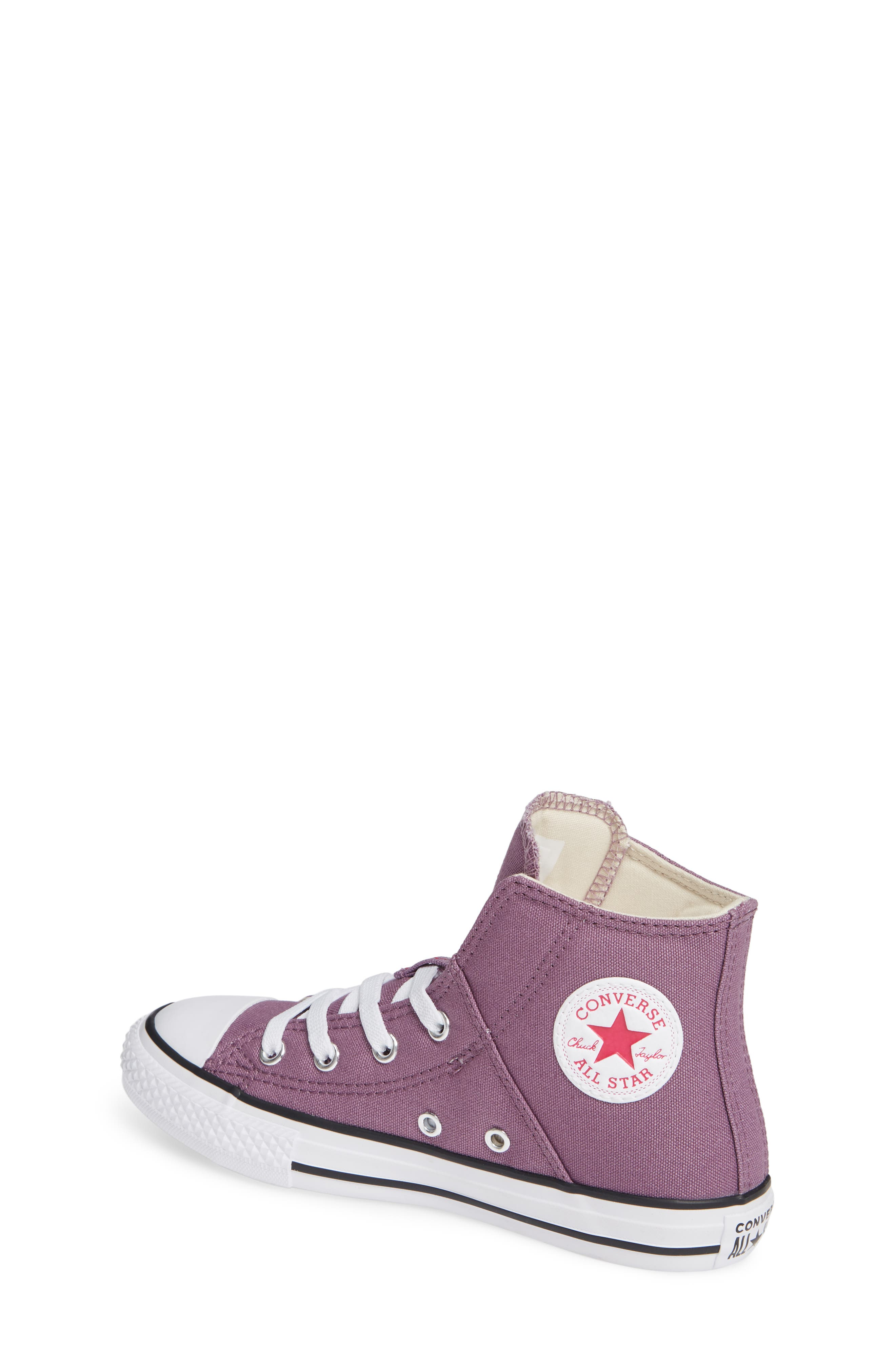 Chuck Taylor<sup>®</sup> All Star<sup>®</sup> Pull Zip High Top Sneaker,                             Alternate thumbnail 2, color,                             Violet Dust