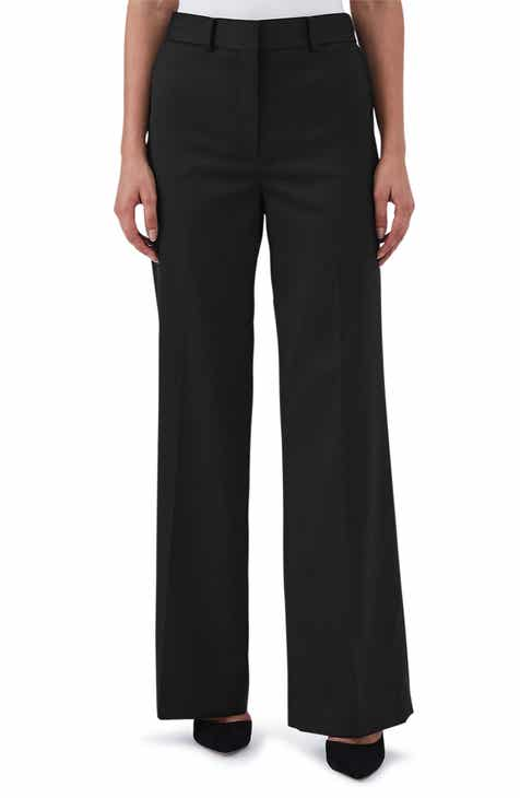 Reiss Harper Wide Leg Stretch Wool Trousers by REISS