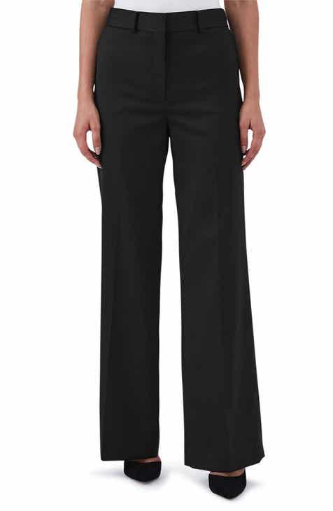 Reiss Harper Wide Leg Stretch Wool Trousers by REISS