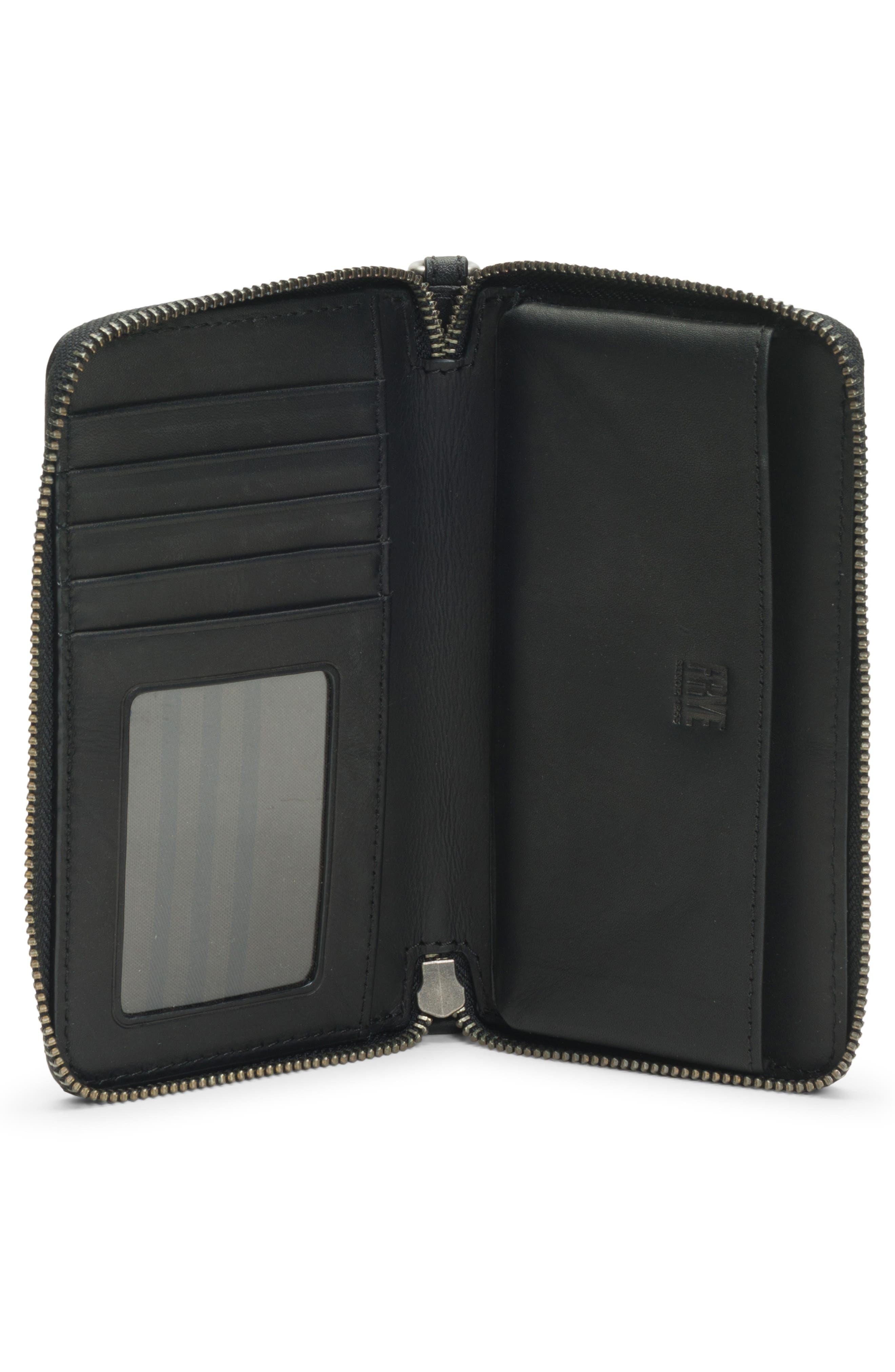 Melissa Leather Phone Wallet,                             Alternate thumbnail 2, color,                             Black