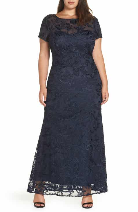 ded102cb89f JS Collections Soutache Lace Gown (Plus Size)
