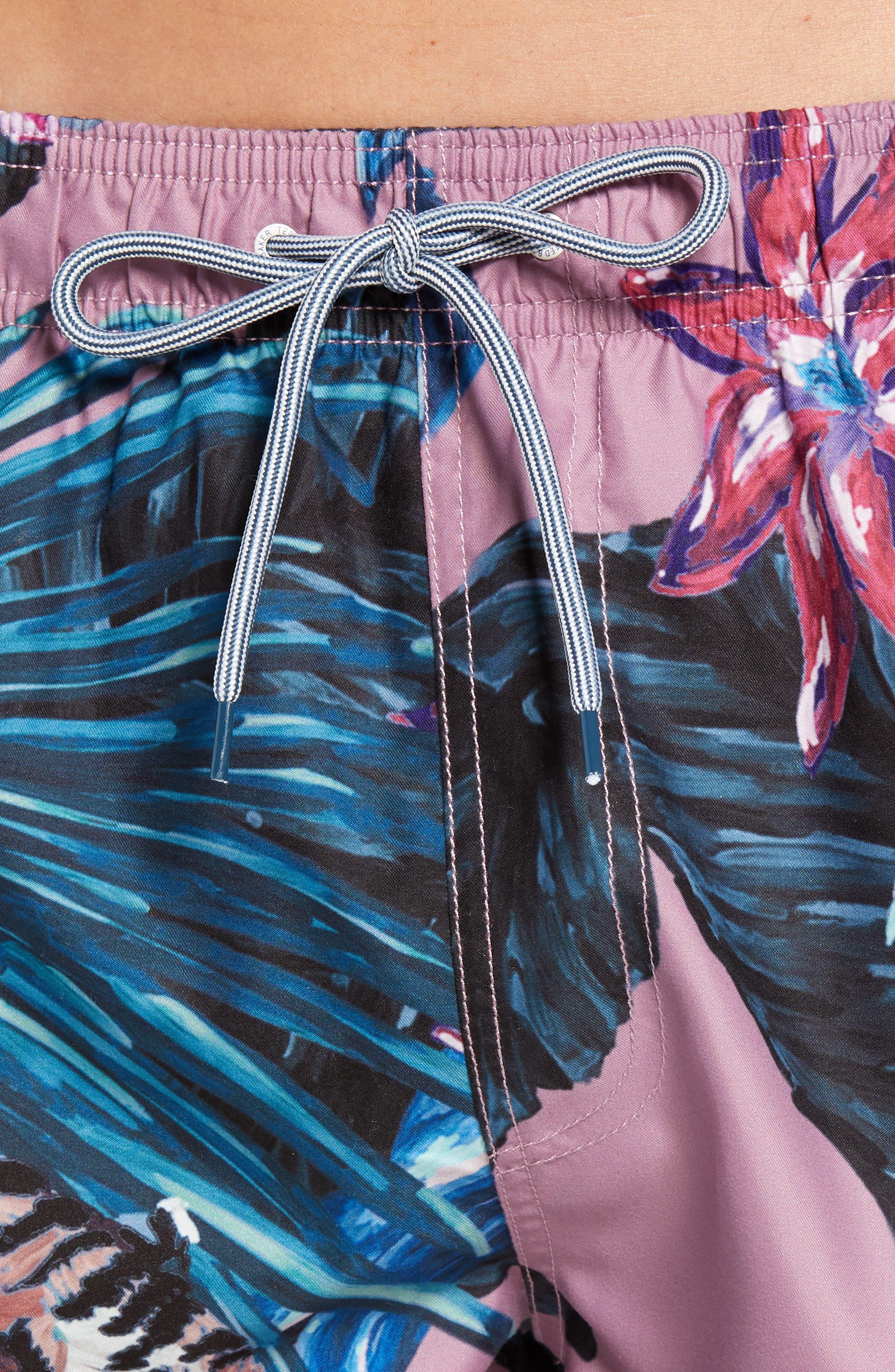 Nemo Tiger Print Swim Shorts,                             Alternate thumbnail 3, color,                             Pink