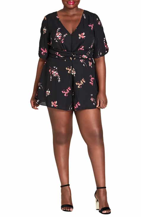044fc390fbe City Chic Akari Floral Romper (Plus Size)