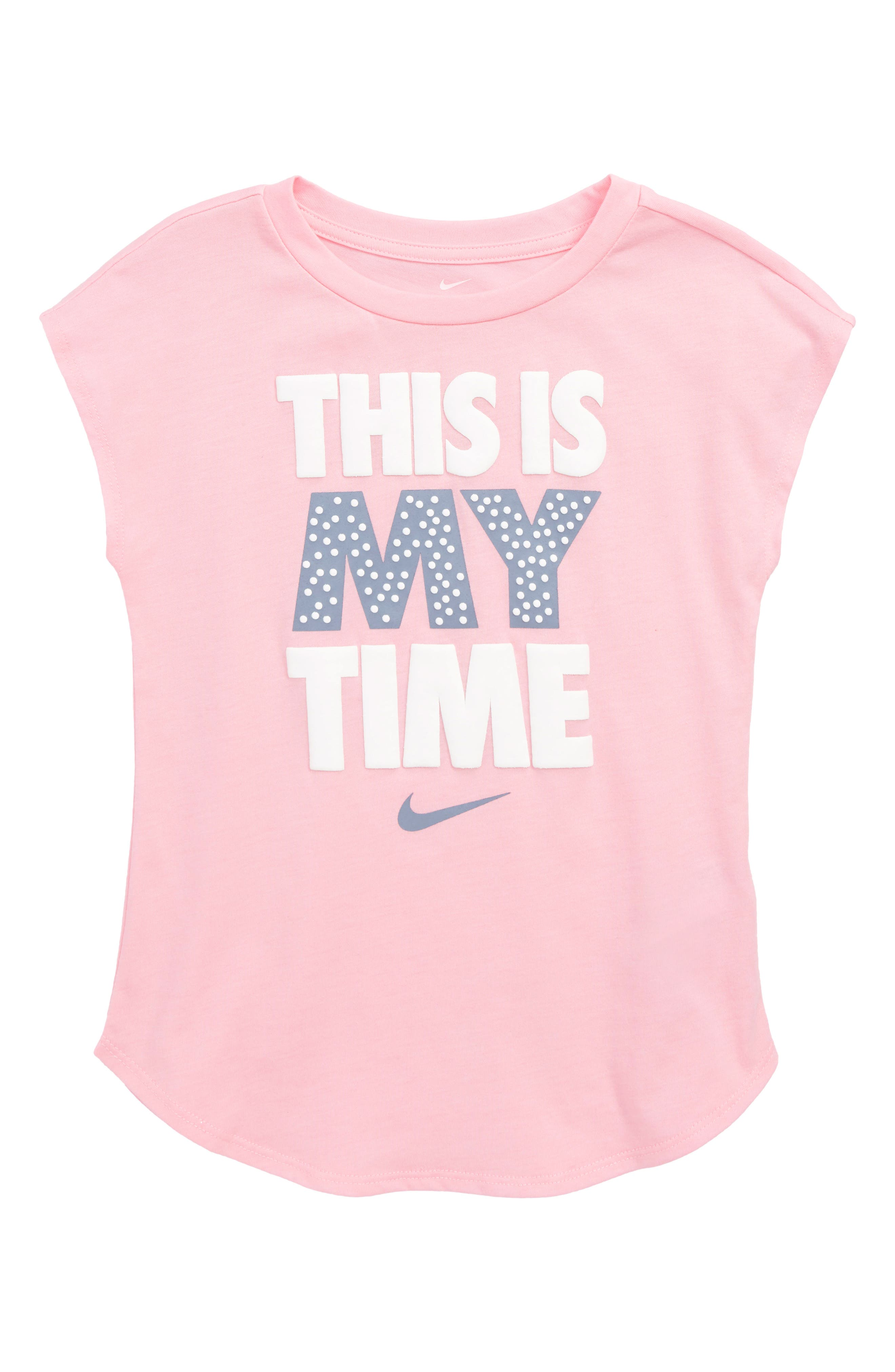 This is My Time Modern Tee,                             Main thumbnail 1, color,                             Pink