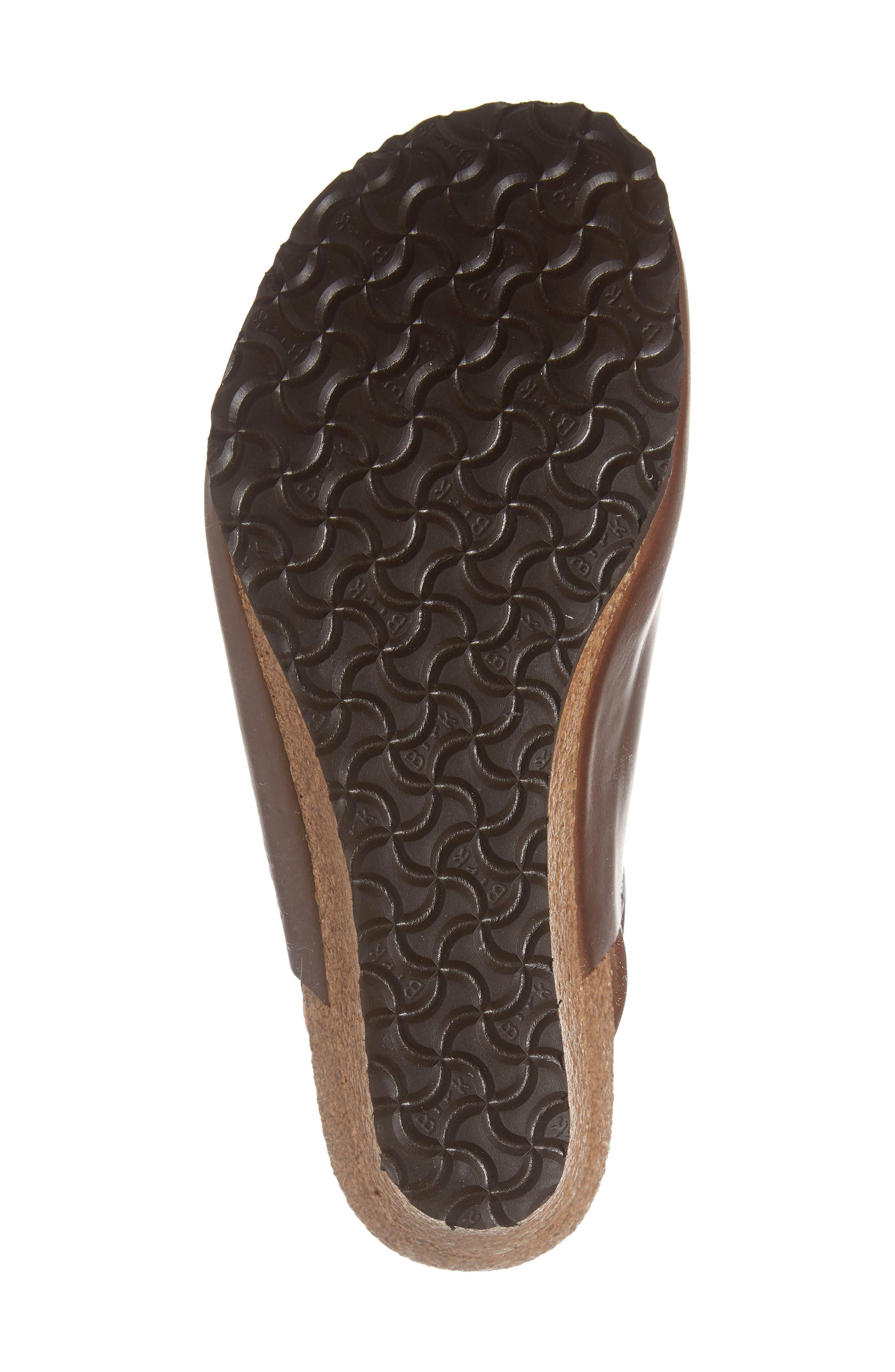 Esra Wedge Clog,                             Alternate thumbnail 4, color,                             Cognac Leather