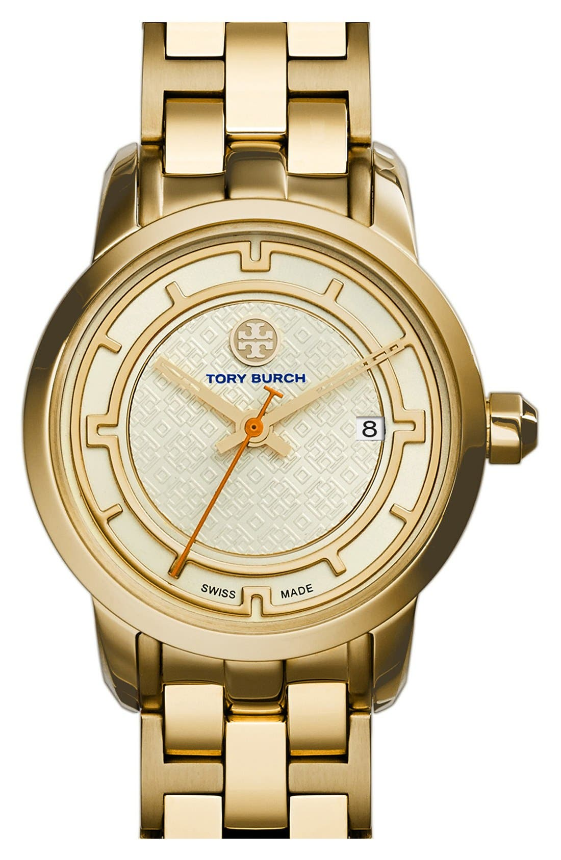 Main Image - Tory Burch 'Tory' Small Round Bracelet Watch, 28mm