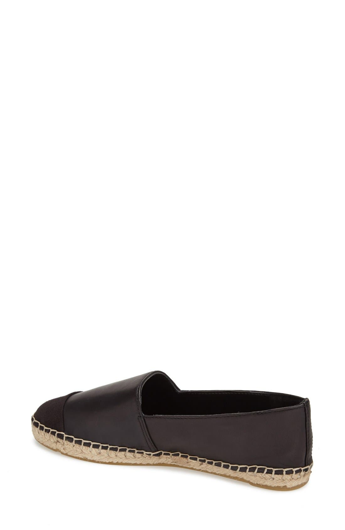 Alternate Image 2  - Vince Camuto 'Dally' Leather Espadrille Flat (Women)