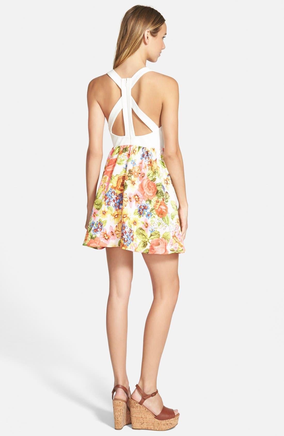 Alternate Image 2  - En Crème Floral Print Skater Dress