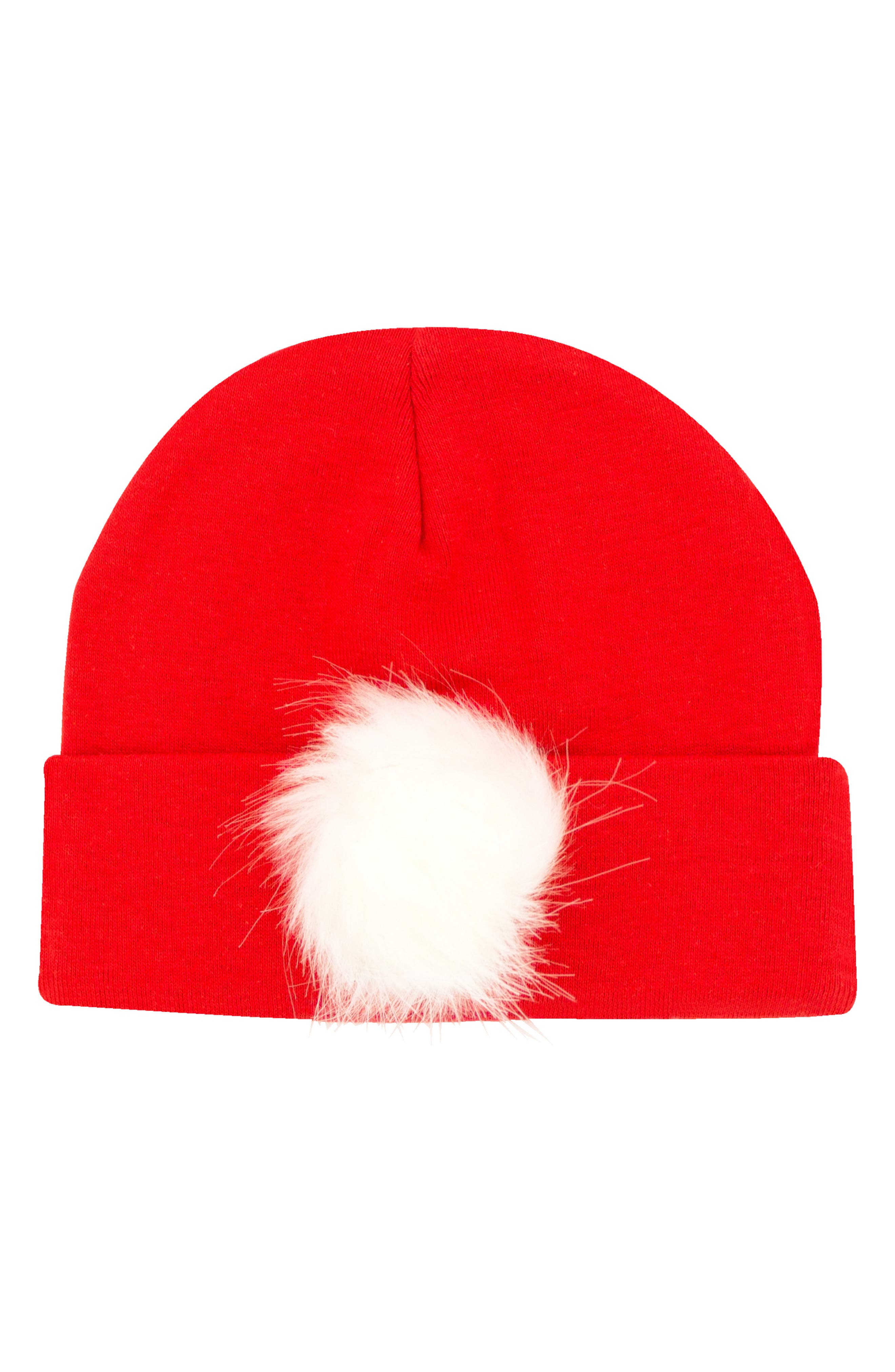 ... promo code for plh bows faux fur pompom knit hat baby girls 1150d 8053e c6dbf4d4a04