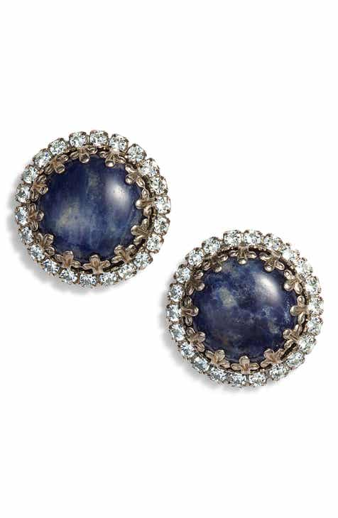 Sorrelli Rhinestone Edge Stud Earrings