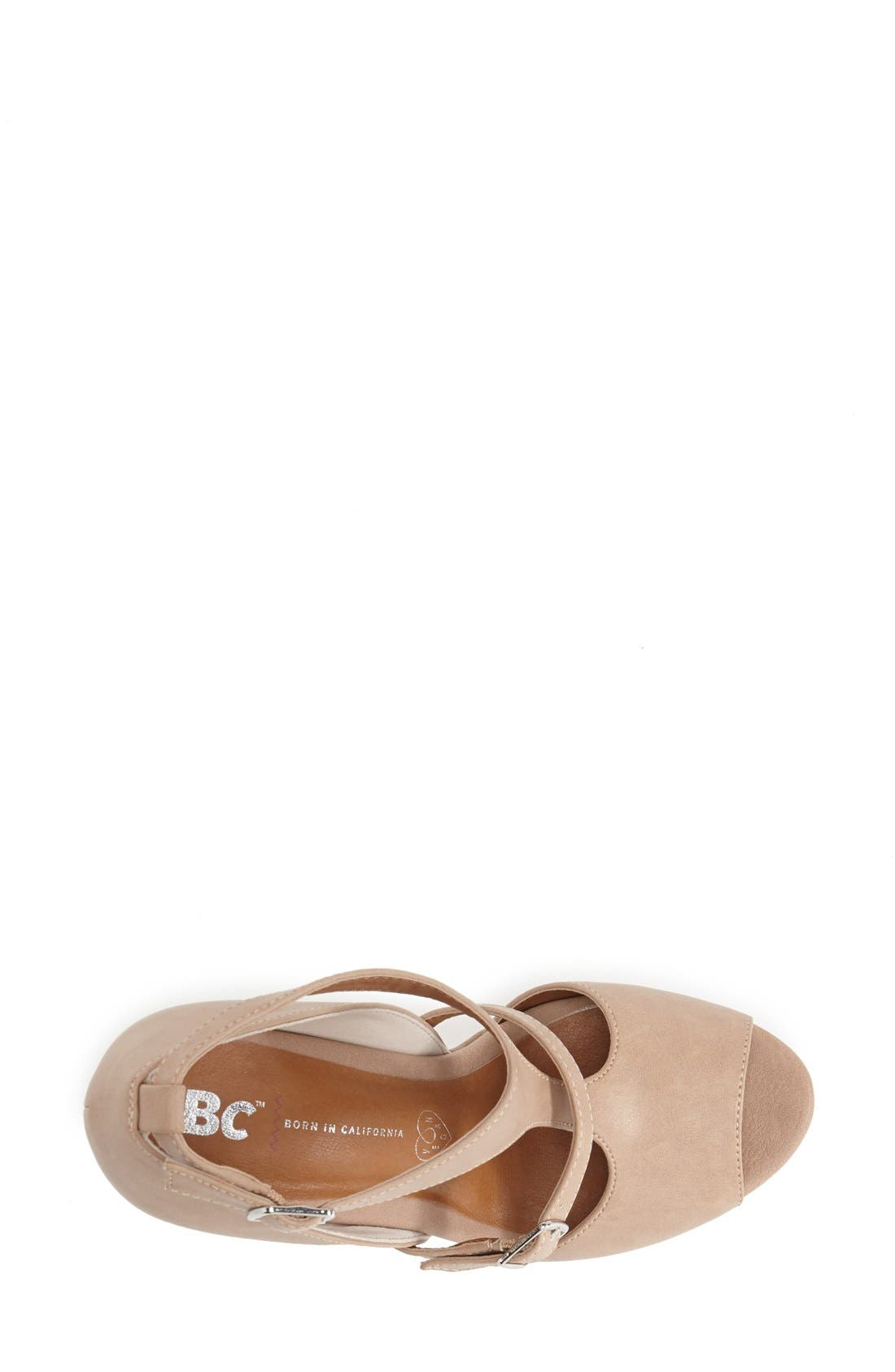 Alternate Image 3  - BC Footwear 'Lionness' Faux Leather Wedge Sandal (Women)