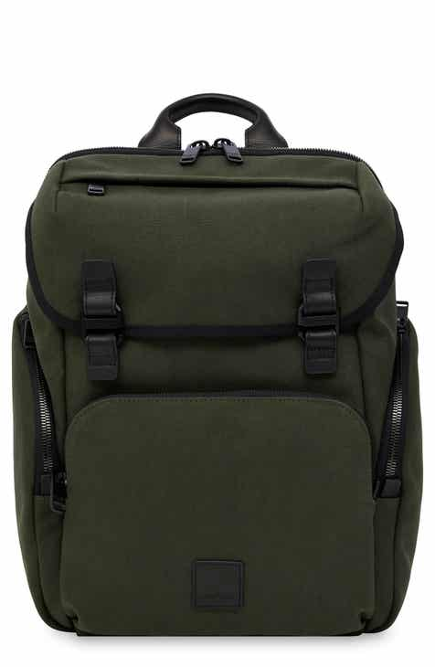 b5efc24f78 Knomo Fulham Thurloe Waxed Canvas Backpack with RFID Pocket