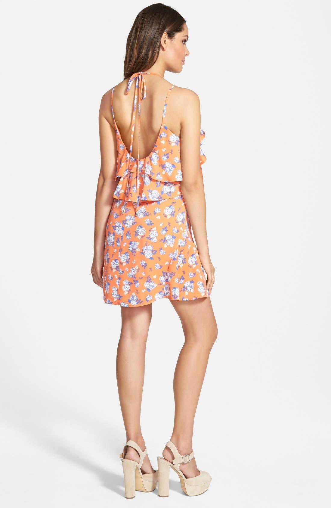 Alternate Image 2  - J.O.A. Print Overlay Dress