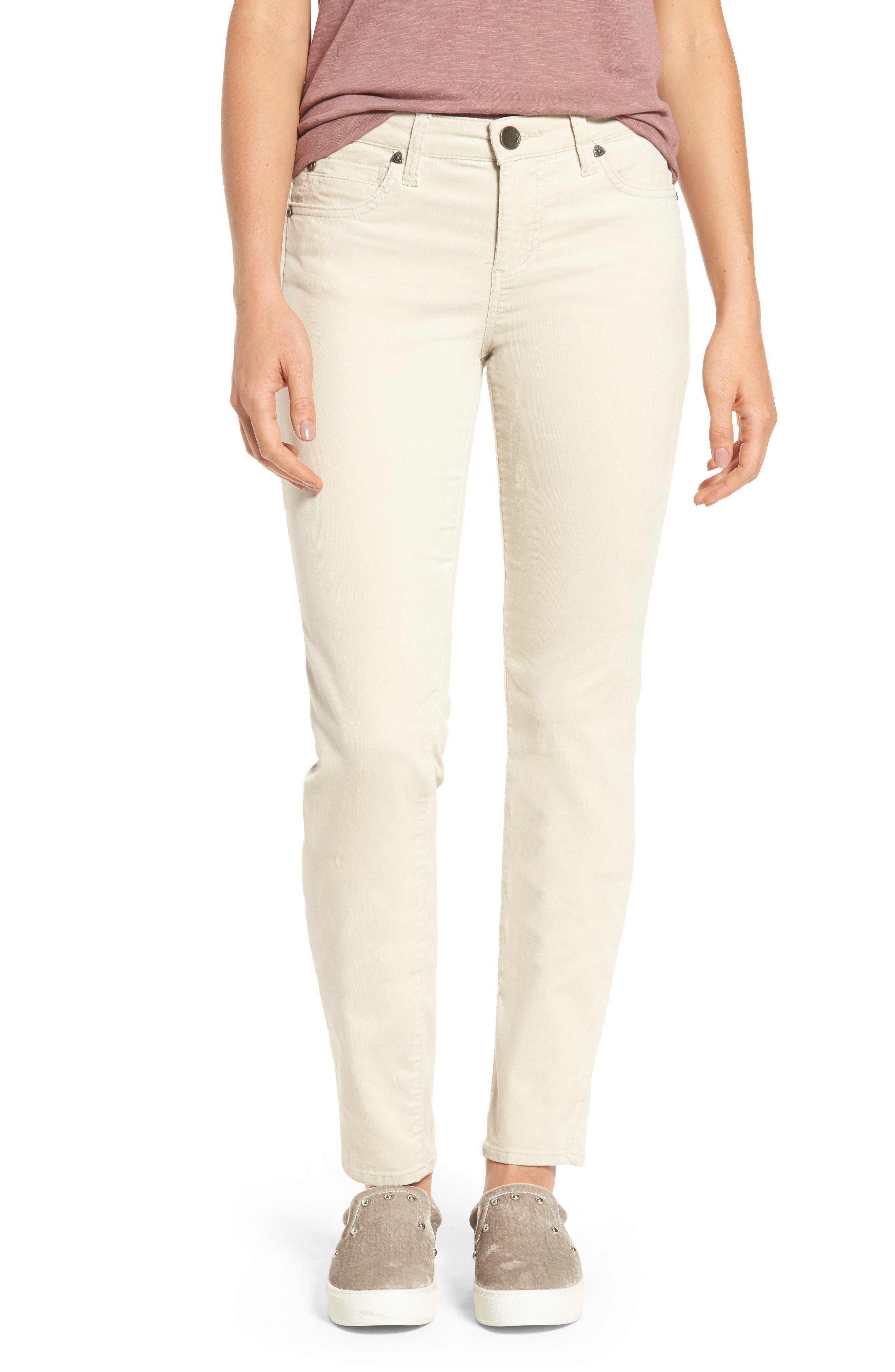 Diana Stretch Corduroy Skinny Pants,                             Main thumbnail 1, color,                             Light Tan 2