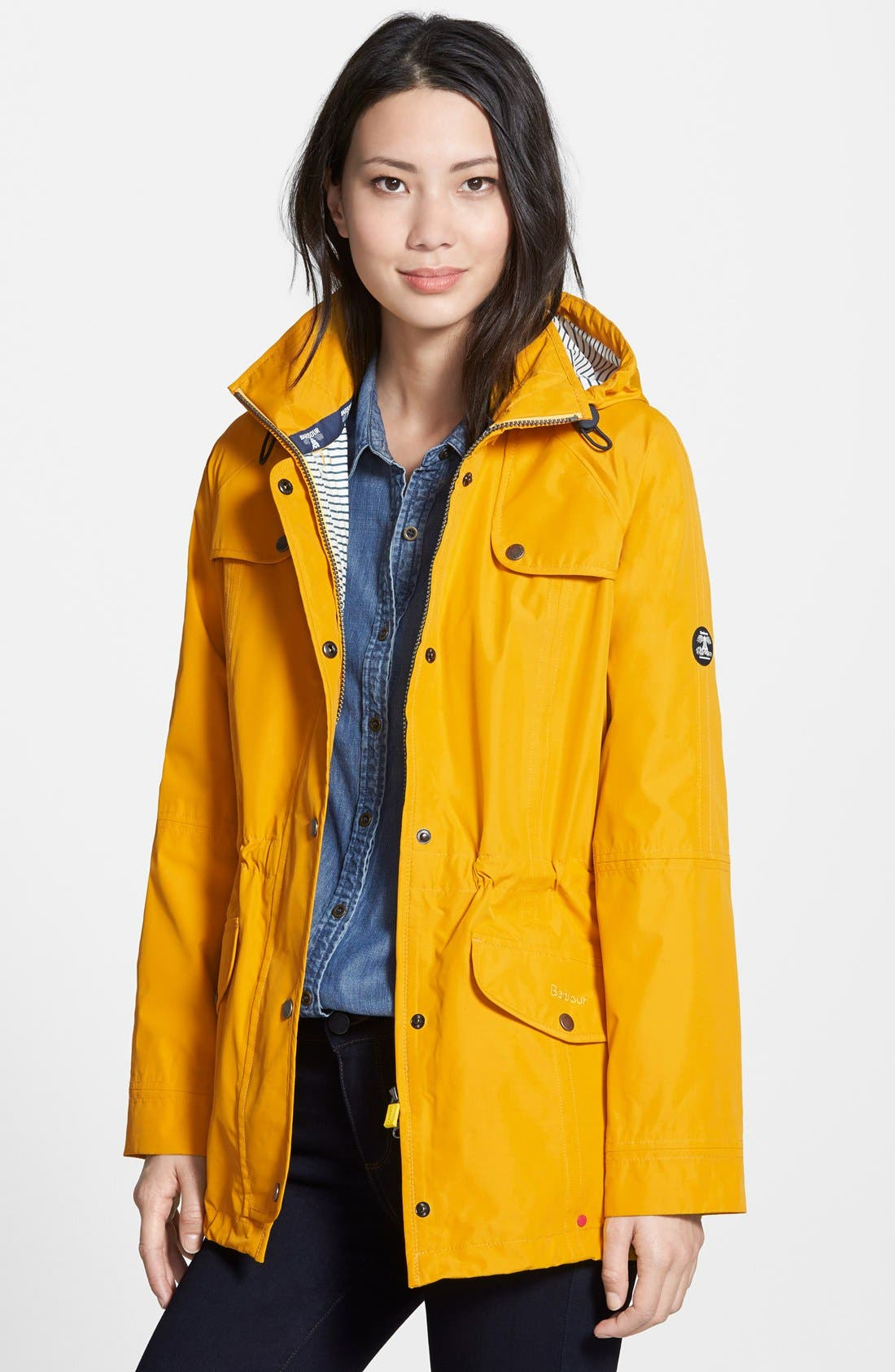 Trevose Waterproof Hooded Jacket,                         Main,                         color, Yellow