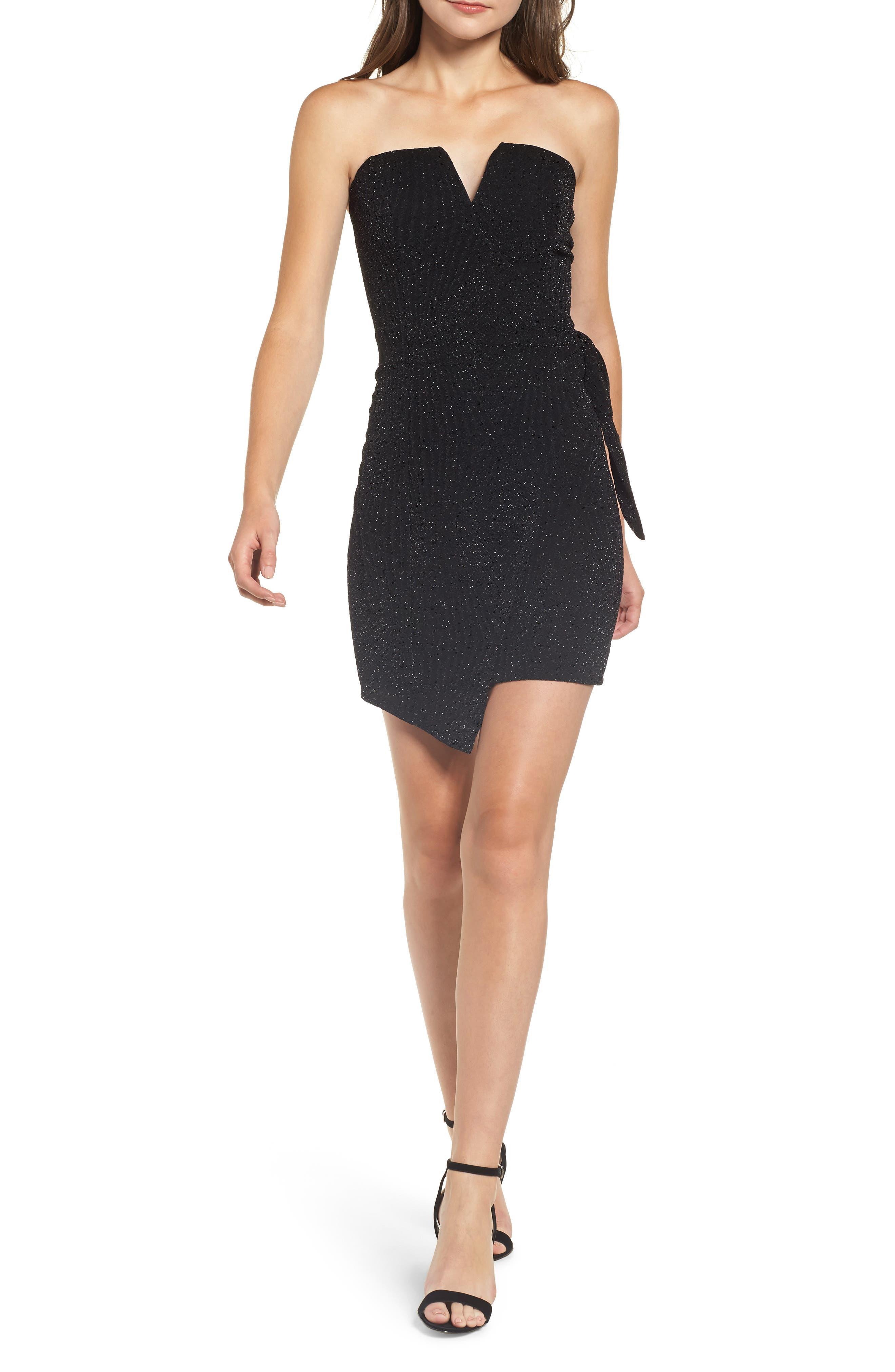 Strapless Black Dresses