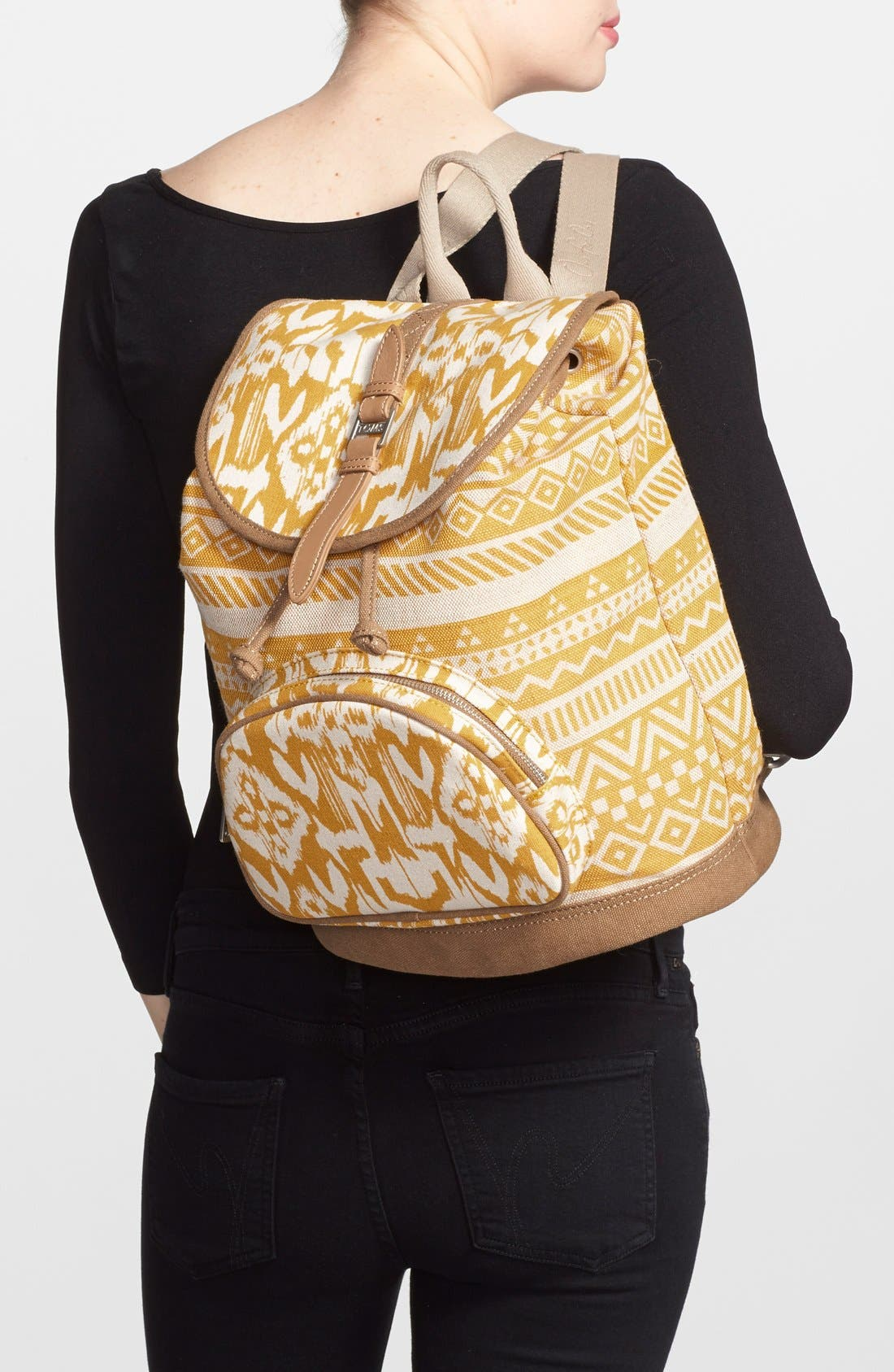 Alternate Image 2  - TOMS 'Traveler' Canvas Backpack