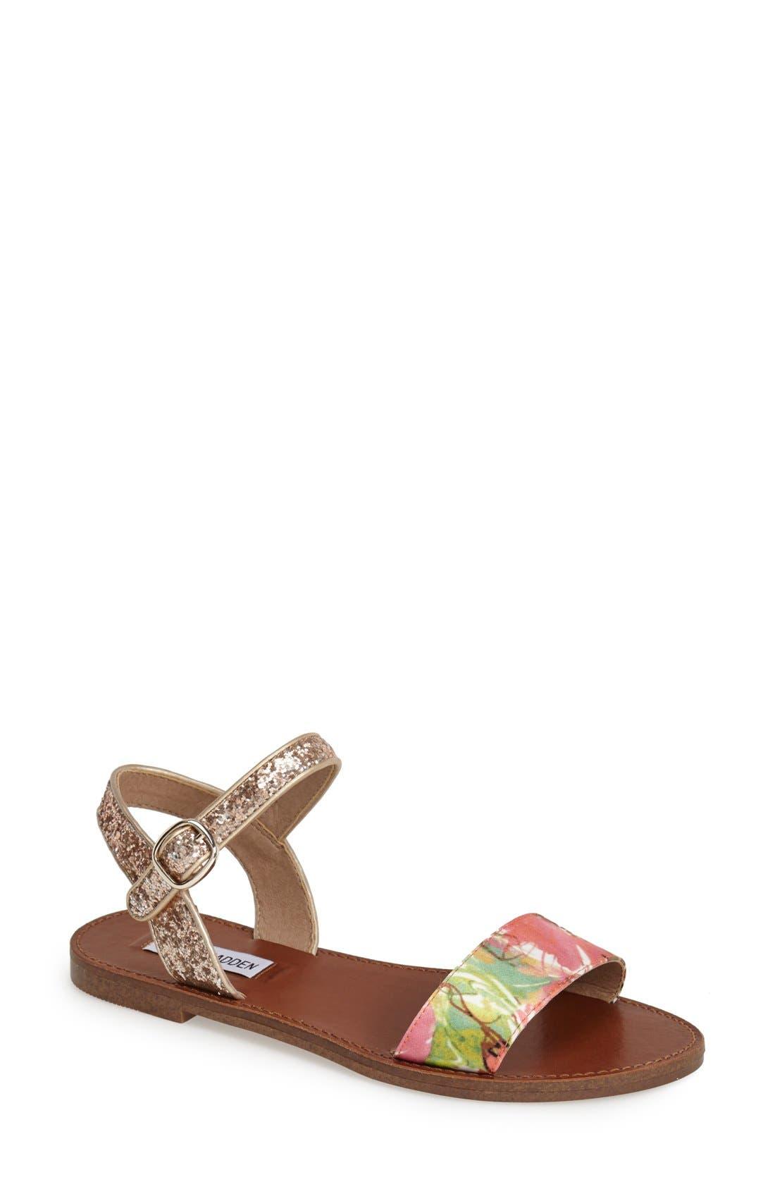 Alternate Image 1 Selected - Steve Madden 'Donddi' Ankle Strap Sandal (Women)