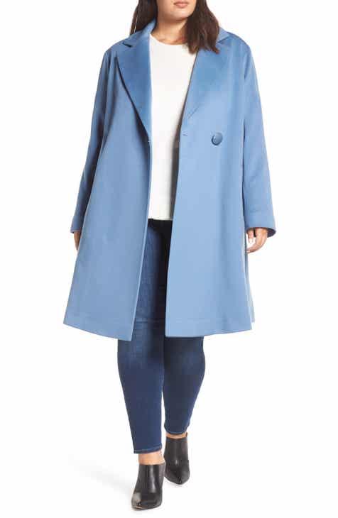 186e56679766a Fleurette Loro Piana Wool One-Button Coat (Plus Size)