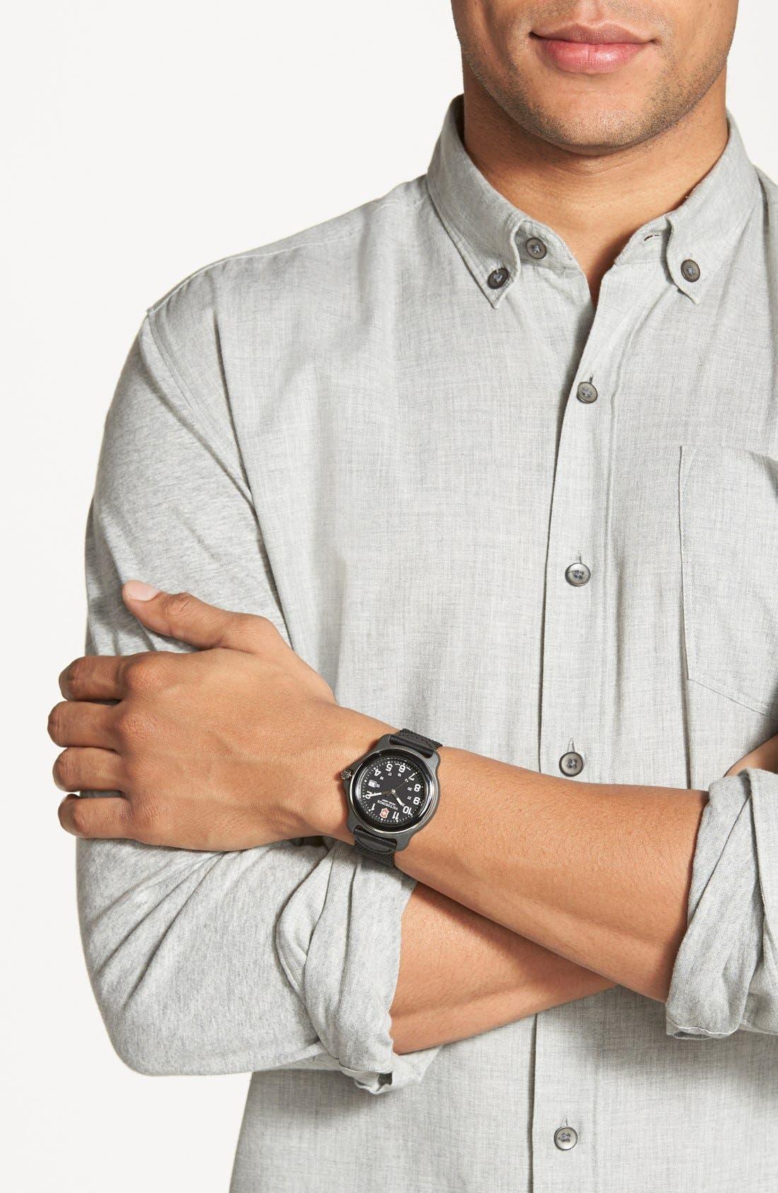 Alternate Image 2  - Victorinox Swiss Army® 'Chrono Classic XLS' Leather Strap Watch, 45mm