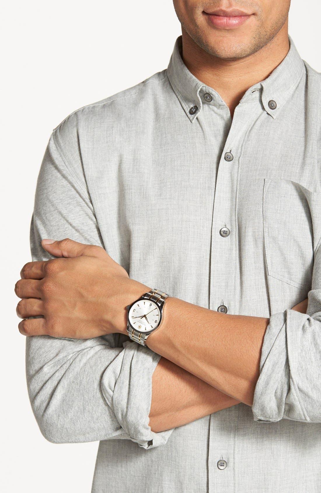 Alternate Image 2  - Victorinox Swiss Army® 'Alliance' Large Bracelet Watch, 40mm