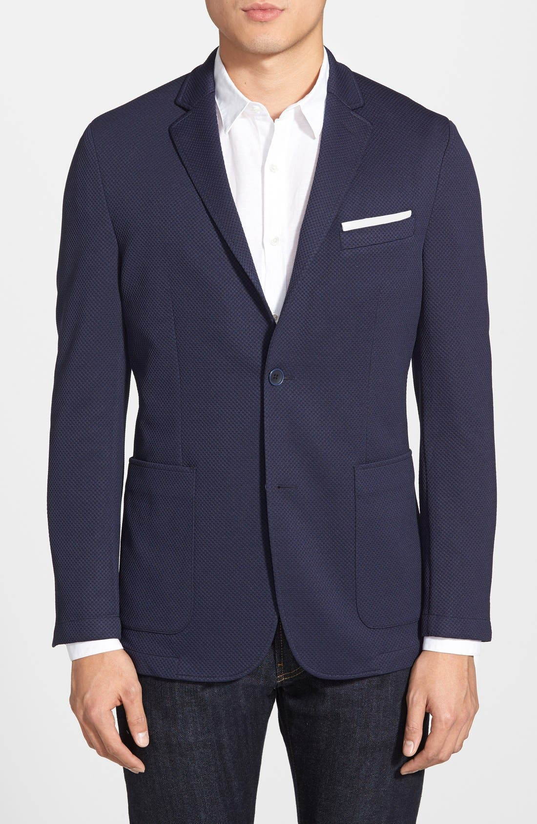 Alternate Image 1 Selected - Vince Camuto Slim Fit Stretch Knit Blazer