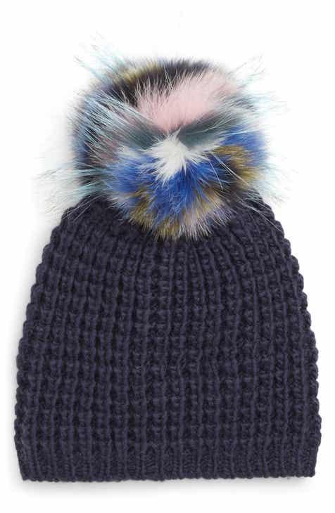 3de86211f83 Kyi Kyi Genuine Fox Pompom Hat