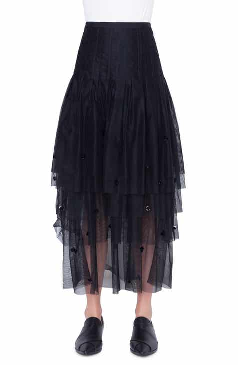 Akris punto 3D Sequin Tulle Maxi Skirt by AKRIS PUNTO