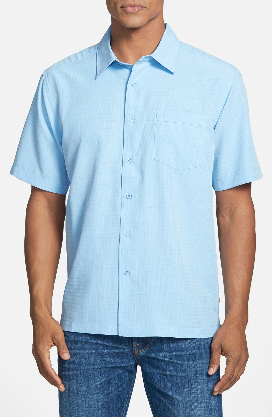 'Centinela 4' Short Sleeve Sport Shirt,                             Main thumbnail 1, color,                             Azure