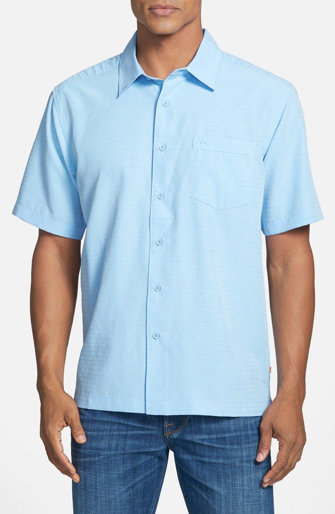 'Centinela 4' Short Sleeve Sport Shirt,                         Main,                         color, Azure
