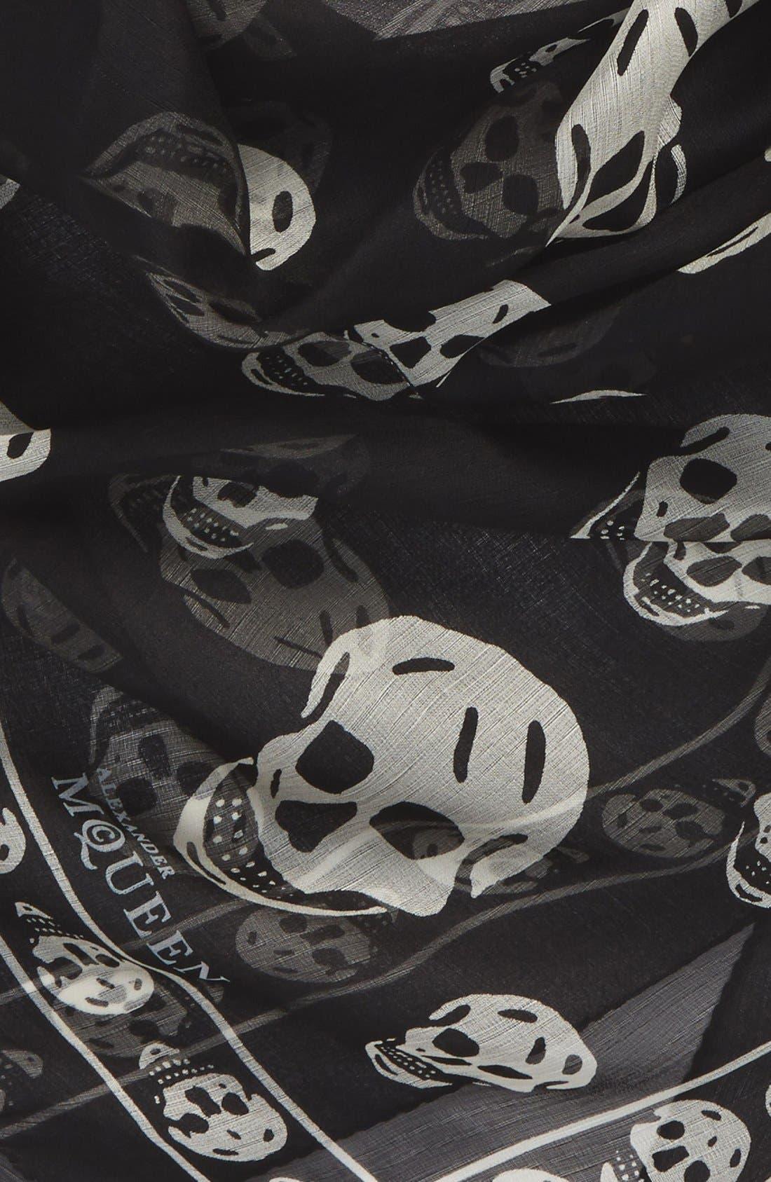 Alternate Image 4  - Alexander McQueen Skull Print Silk Chiffon Scarf