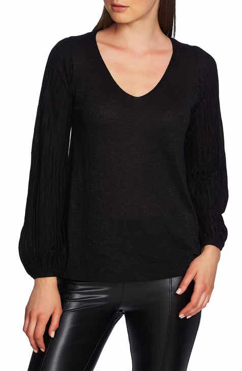 1.STATE Metallic V-Neck Sweater