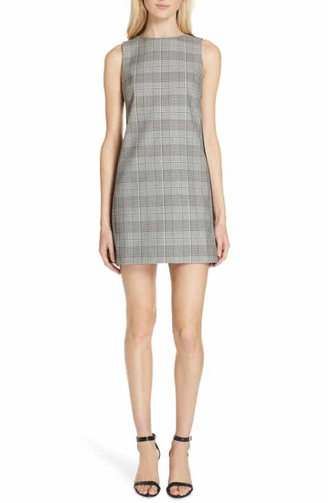 Alice Olivia Clyde Glen Plaid Shift Dress
