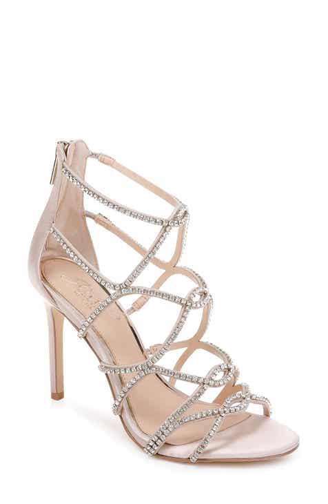 5c92430d0 Jewel Badgley Mischka Delancey Crystal Embellished Cage Sandal (Women)