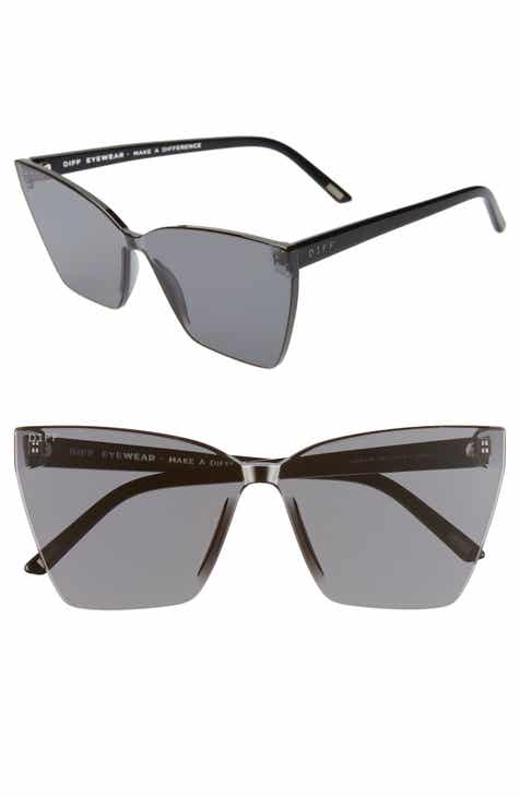 983554e38095 DIFF Goldie 65mm Oversize Rimless Butterfly Sunglasses