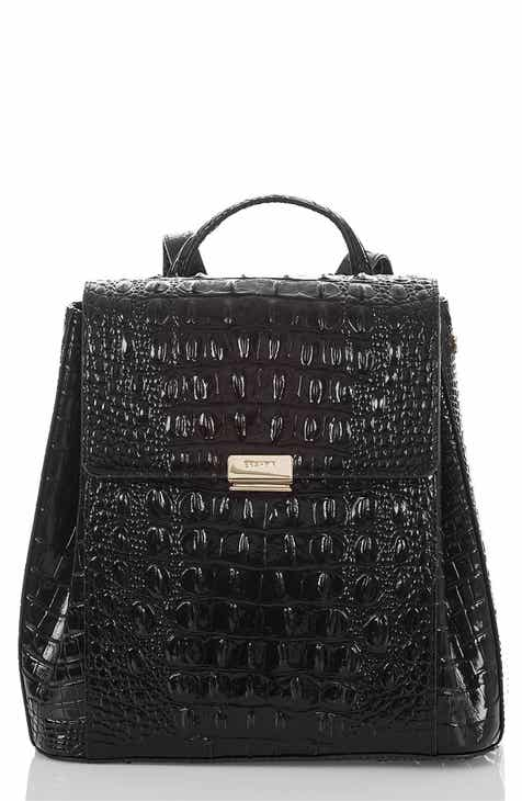 d999f041d7dc Brahmin Margo Croc Embossed Leather Backpack
