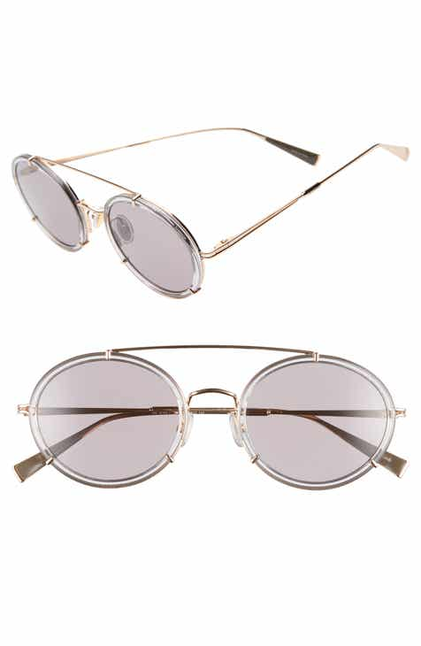 2b301f54a27 Max Mara 51mm Round Aviator Sunglasses