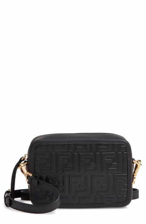 99ab1f04e Fendi Mini Logo Embossed Calfskin Leather Camera Bag