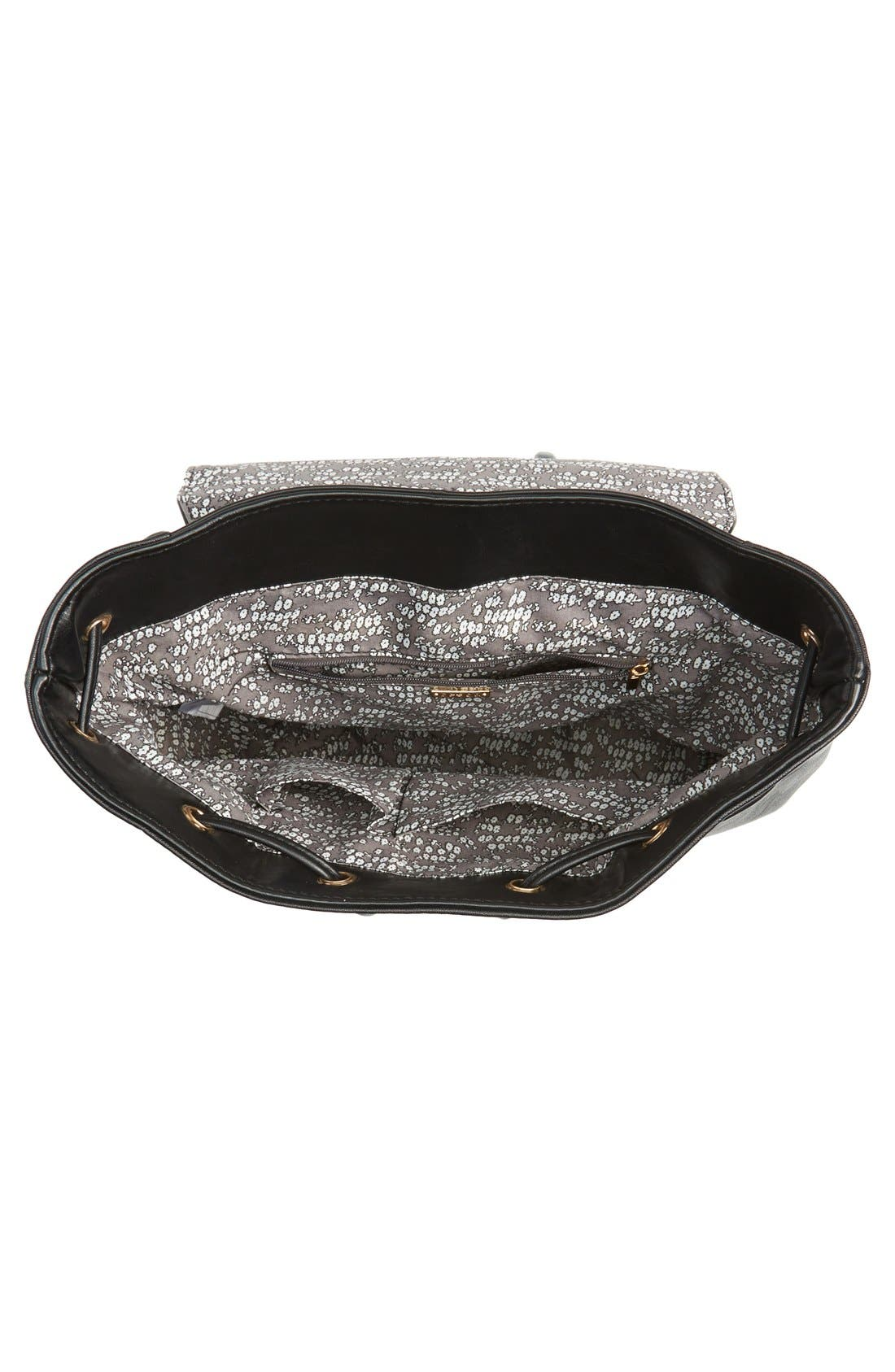 Alternate Image 3  - Cesca 'Leo' Faux Leather Backpack