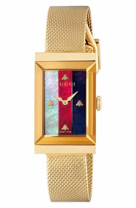 1eac09eff16 Gucci G-Frame Mesh Strap Watch
