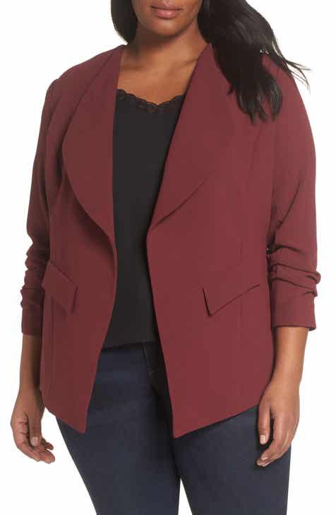3dda59458786 Sejour Drape Neck Jacket (Plus Size)