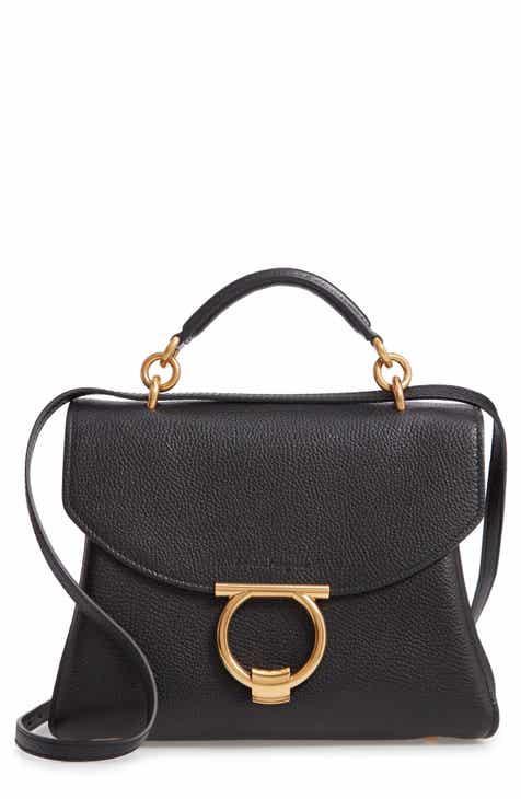 dc67148f91de Salvatore Ferragamo Small Margot Leather Top Handle Bag
