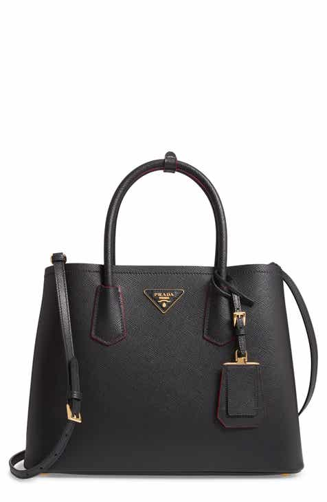 167af84d634a Prada Medium Saffiano Leather Double Tote