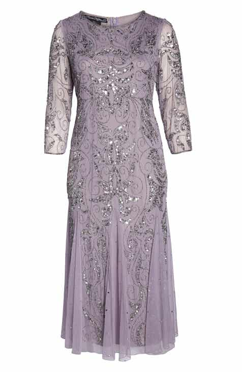 a8820602b4b Pisarro Nights Embellished Three Quarter Sleeve Gown (Plus Size)
