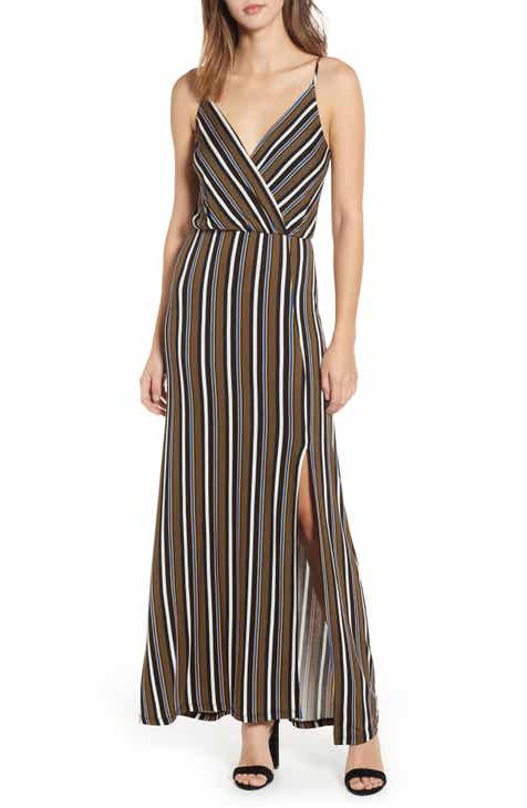8ff7ac580619 All in Favor Surplice Neck Knit Maxi Dress