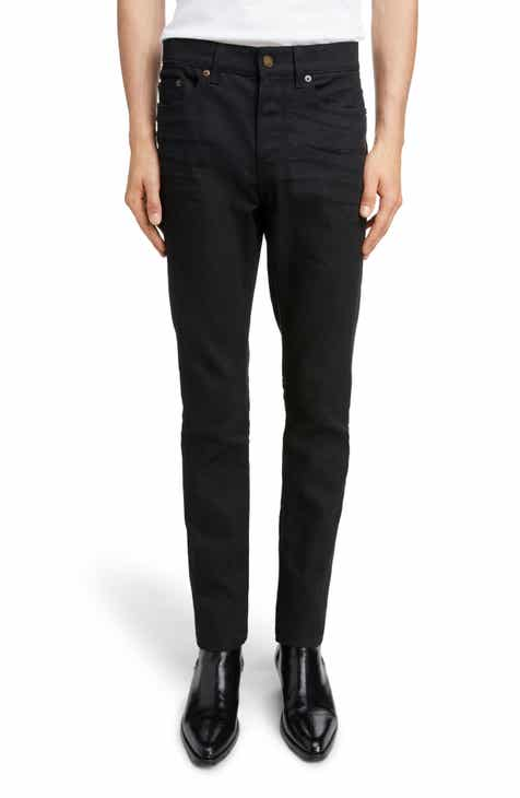 22885be4cb5 Saint Laurent Skinny Fit Jeans (Black Raw)