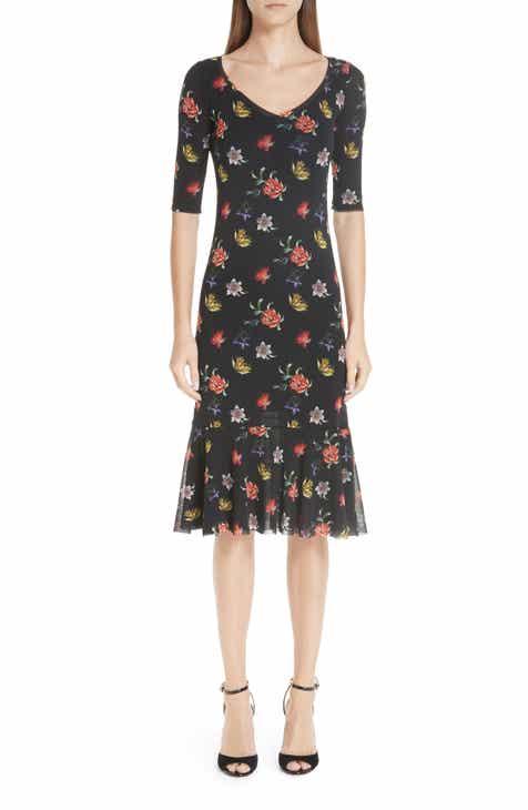 Fuzzi Floral Tulle Dress by FUZZI